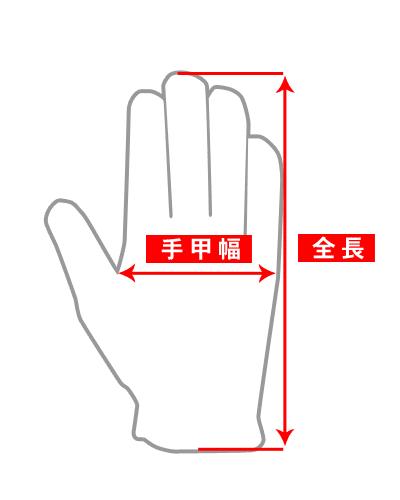 手袋(グローブ)のサイズ