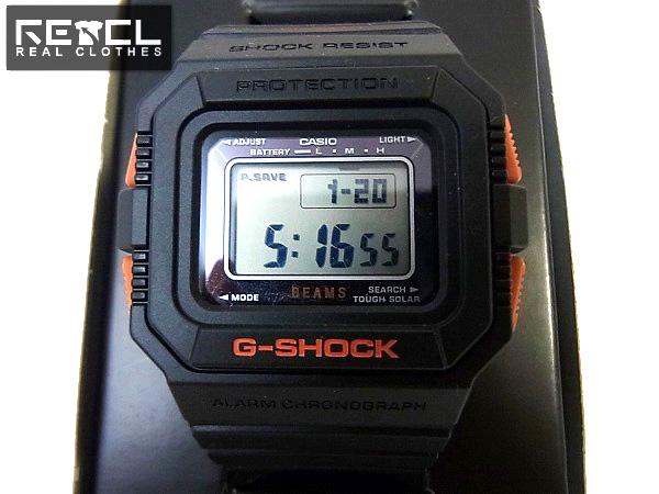 designer fashion fc14f 8e6c2 ビームス別注30周年 G-SHOCK/Gショック DW-5500BE 腕時計 黒/橙 ...