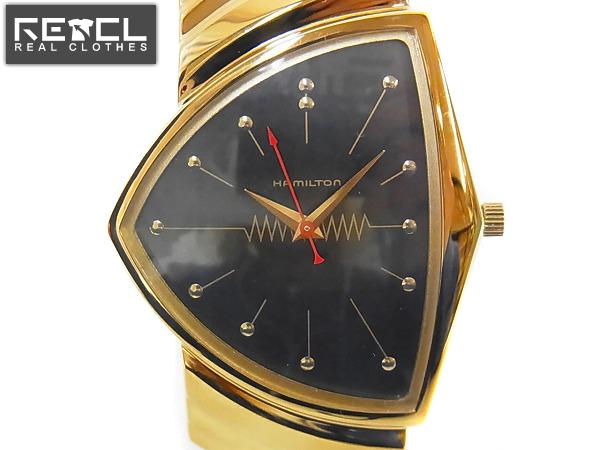 sale retailer 60828 50cc9 HAMILTON/ハミルトン ベンチュラ 黒金 腕時計/H610814 買い取り ...