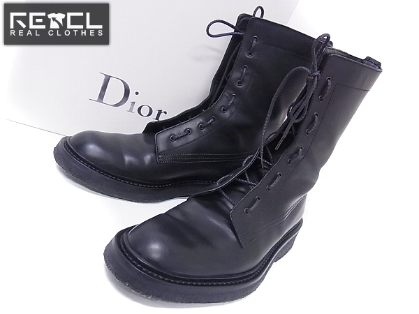 buy popular 07b39 2ba42 Dior Homme/ディオール 07AWラバーソールレースアップブーツ 42 ...