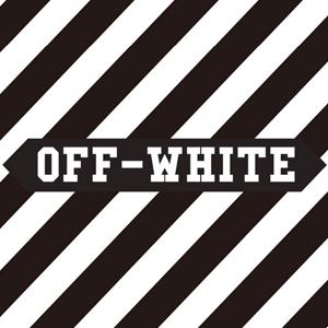 オフホワイトのロゴ