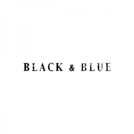 ブラック&ブルーのロゴ